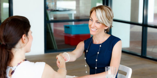 women leaders meeting and shaking hands, unspoken rules in an organization